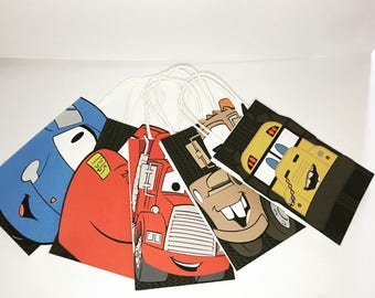 Cars Mcqueen Sally Mater Ms Fritter Mack Goodie Bags Favor Bags Birthday Party Treat Bag 12 Ct