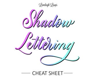 Shadow Lettering Cheat Sheet