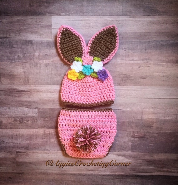 Crochet Baby Bunny Outfit Bunny Set Baby Bunny Photo Prop