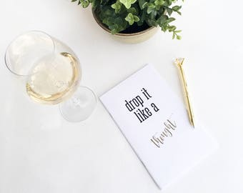 Witty Notebook - Drop it Like a Thought - Notebook - #Basic Collection