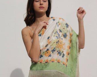1930s silk shawl