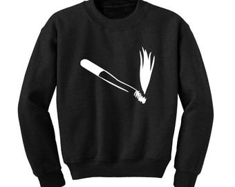 CIGARETTE Graphic Sweatshirt Smoking Drawing Illustration Hipster Weird Art |