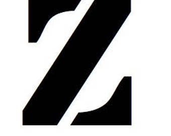 Letter Z Lower Case Stencil Made from 4 Ply Mat Board-Stardos Font