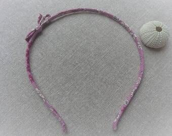 Headband flower headband pink headband bow fabric headband fabric headband