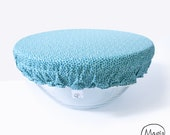 Cover Bowl blue patterns - covered Bowl to store food - covered Bowl - cover for plates - Zero waste