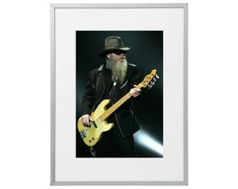 ZZ Top custom framed and mounted print 30 x 40 cm   12 x 16 inches   Art Poster Wall Artwork Décor  2