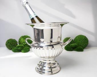 Vintage Silver Plate Loving Cup Champagne Chiller Urn Ice Bucket Vase Large