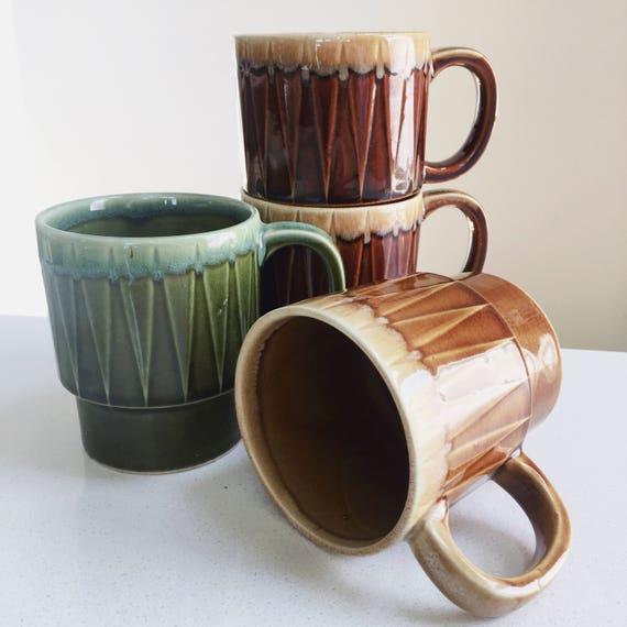 Made In JAPAN Stackable Vintage Coffee Mugs