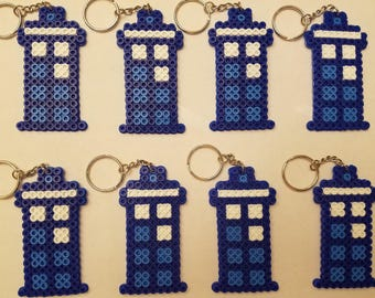 Doctor Who Tardis party favor pack - Set of 8 keychains