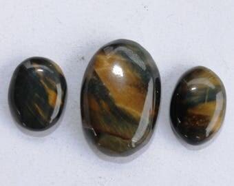 Black Tiger Eye Cabochon 41 Ct (24x16x7 mm) Oval Natural gemstone,Fancy Cabochon, Semi Precious Stone Cabochon for Pendent & Jwellary