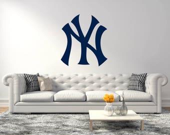 New York Yankees Baseball Team Usa Major League Wall Decal - Baseball Teams Sticker For Home Decor