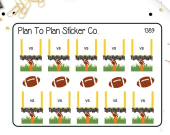 1389~~Football Game Tracker Planner Stickers.
