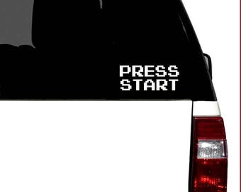 Press Start - 8bit Retro Gaming Vinyl Car Graphic Decal