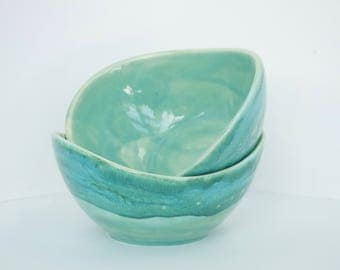 Pottery Patina Swoop Bowls for 2