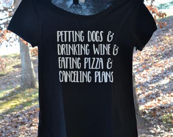 Dog lover - Wine lover t-shirt