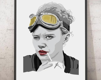 Jillian Holtzmann portrait, Kate McKinnon portrait, Ghostbusters poster, Holtzmann art, Ghostbusters fan art, Ghostbusters print