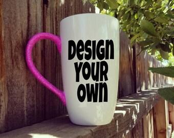 custom mug design your own mug glitter mug best friend gift funny