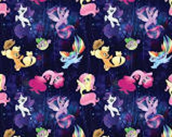 "My Little Pony Faraway Adventures mermaids by Springs Creative, 43-44"" wide, 100% cotton, by the half yard"