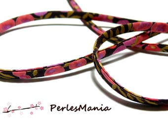1 m S9009R Ribbon spaghetti 5mm floral liberty fabric cord, DIY
