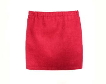 Pencil Skirt, Corduroy, Burgudy Red, Fits dolls such as American Girl, 18 inch Doll Clothes