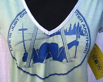 """Small Hand Dyed Vintage """"Advanced"""" Skier's Blouse"""