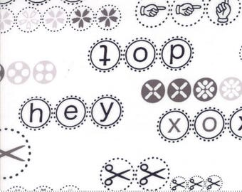 "Moda ""Hey Dot"" by Zen Chic ~ HEY DOT ~ 1601 11 White ~ Half Yard Increments"