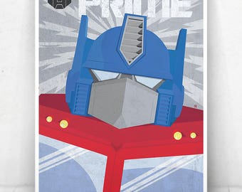 Optimus Prime Poster - Illustration  / Optimus Prime Poster / Optimus Prime / Transformers