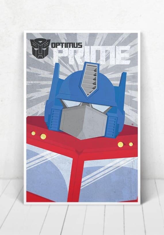 Optimus Prime Poster - Illustration  / Optimus Prime Poster / Optimus Prime / Transformers