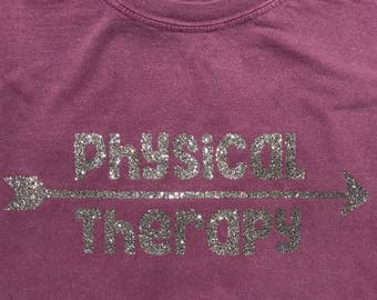 Physical Therapy with Arrow shirt