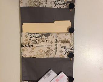 4 Pocket hanging file folder organizer wall organizer mail organizer wall pocket