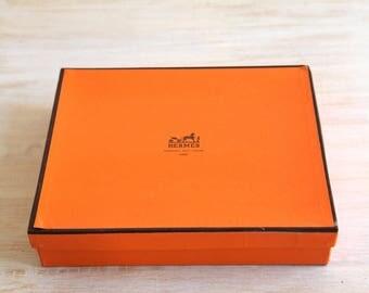Vintage Hermes Box, Hermes Cardboard Box, Collectible Box, Vintage Clothing Shop Decor