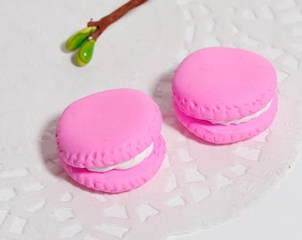 """5 22mm polymer clay cabochons """"Macaroons"""""""