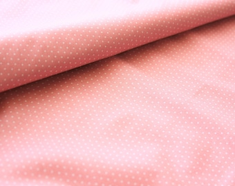 Polka dot Fabric, Polkadot Fabric, Cotton Fabric, Dusty Pink, Pink, Tiny Dots, Sand, Sewing Quilting Dressmaking Supplies,Wide, Half Metre