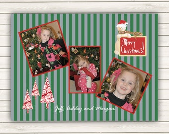 Photo Christmas Cards, Printed Photo Christmas Cards, Multiple Photos Christmas cards, Snowman Holiday Cards, Picture Christmas Cards