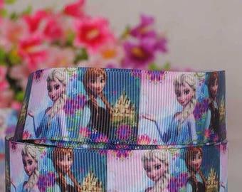 Ribbon GROSGRAIN sold by the yard frozen ANNA ELSA 22mm