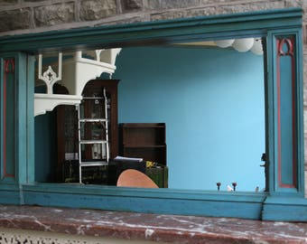 Early 20th Century original painted piece of panelling converted to use as a Mirror