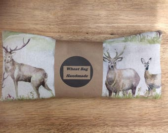 Wheat bag imperial stag fabric