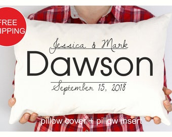 Mrs Personalized pillow, Wedding gift , Anniversary gift pillow, Newlywed Gift,Engagement Gift, Bridal shower gift , Wedding pillow (P138)