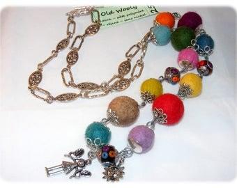 Unique Designer [OldWooly] - multicolor necklace