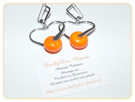 Designer earrings [Tangerine]