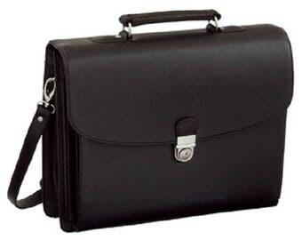 Handbag , Aktentasche, Briefcase, Messenger, Bag, Leather Imitation, black