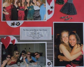 Prom/Homecoming/Formal dance/college/high school/custom scrapbook