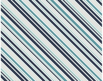 Blue Stripe Fabric