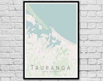 TAUTANGA New Zealand City Street Map Print | Wall Art Poster | Wall decor | A3 A2