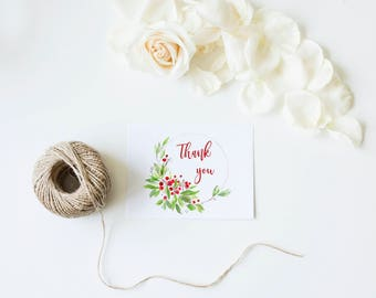 Christmas jpeg, Thank you jpeg, Thank you, Printable thank you, Instant download, gift for mom