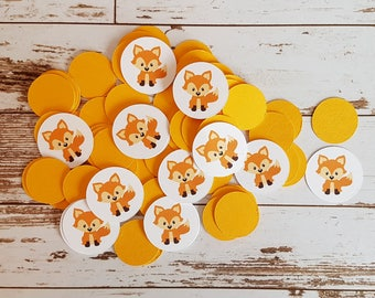 Fox Confetti, Decorative Party Confetti, Baby Shower, Birthday, Party Table Embellishment, Fox Theme