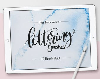 Lettering Procreate Brushes, Custom Made, Brush Pack, Hand Lettering, Brush Pens, iPad Pro, Procreate Brush, Instant Download,