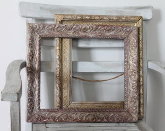 "Old french frame 42 x 37 cm, 16 1/2 ""x 14 1/2"", photo frame, old frames, frame for jewelry, wedding, CDR171064 frame"
