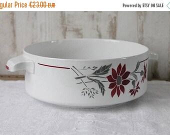 ENJOY SALES Plat vintage français en porcelaine opaque, Manufacture de porcelaine, plat fleuri, vaisselle ancienne, PLAT170998