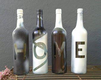 H O M E Wine Bottle Vase Series